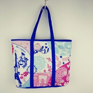 Lancome Shopping Canvas Tote